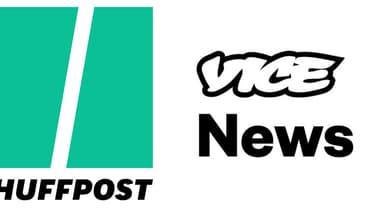 Les logos du Huffington Post et de Vice News.