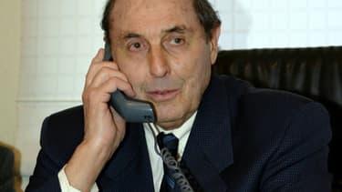 Le maire du Touquet, Léonce Deprez, le 21 janvier 2005