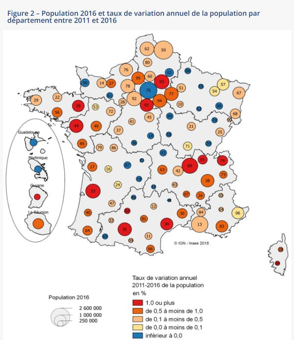 Recensements de la population de 2011 et 2016.