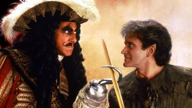"""Dustin Hoffman et Robin Williams dans """"Hook"""" (1992)"""
