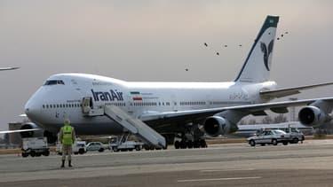 Un Boeing 747 d'Iran Air sur le tarmac de l'aéroport Mehrabad de Tehran, en janvier 2013.