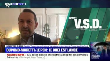 """Sébastien Chenu à propos d'Éric Dupond-Moretti: """"On a vu un homme d'une violence inouïe cet après-midi injurier des millions d'électeurs"""""""