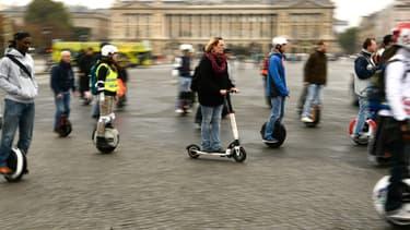 La réglementation est encore imprécise sur la place des gyropodes ou trottinettes électriques dans l'espace public.