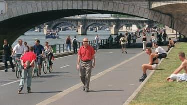 Les voies sur berge rive droite sont piétonnes depuis une décision du Conseil de Paris en septembre.