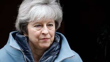La Première ministre britannique Theresa May le 13 fevrier à Londres à la veille d'un vote crucial à la Chambre des Communes.