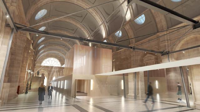 Le schéma de la salle d'audience principale du procès des attentats de novembre 2015, au palais de justice de l'île de la Cité.