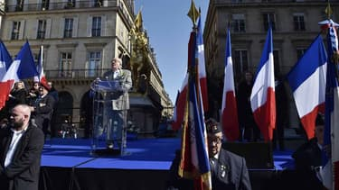 Jean-Marie Le Pen, lors de son discours ce 1er mai.