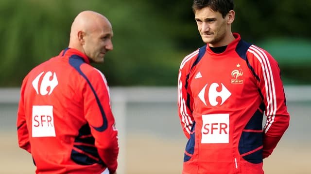 Fabien Barthez et Hugo Lloris