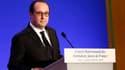 François Hollande lundi 23 février lors du dîner annuel du Crif.