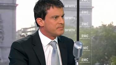 """Manuel Valls, le ministre de l'Intérieurn, affirme que """"le droit de vote des étrangers n'est pas la priorité des Français""""."""