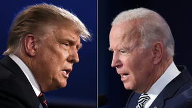 Donald Trump et Joe Biden le 30 septembre 2020