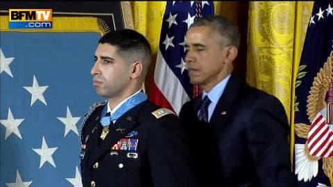 Florent Groberg, un soldat d'origine française, décoré par Barack Obama