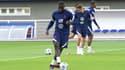 Dayot Upamecano à l'entraînement des Bleus