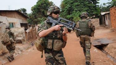 Des soldats français sont déployés pour sécuriser Bangui, la capitale de la Centrafrique