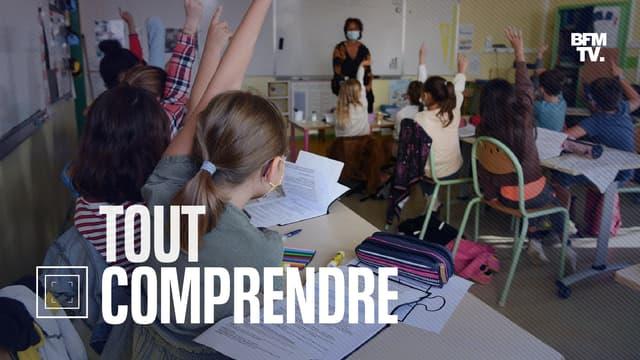 La rentrée dans une école de Quimper (Finistère), le 2 septembre 2021  (photo d'illustration).