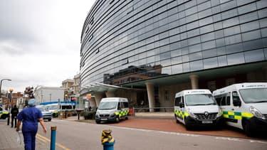 """Le """"King's College Hospital"""" de Londres, en avril 2020"""