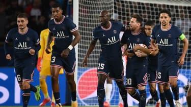 Lionel Messi et ses coéquipiers du PSG