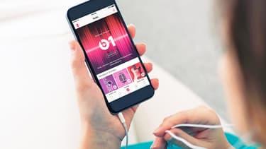 L'appli Apple Music sur un smartphone.