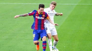 Lionel Messi face à Toni Kroos