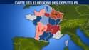 Les députés PS ont proposé une nouvelle version de la carte de France, comportant 13 régions.