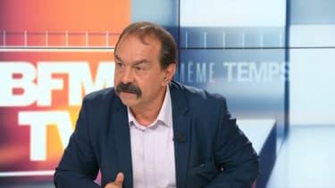 Philippe Martinez, secrétaire général de la CGT sur le plateau de BFMTV, le 5 mai 2019.