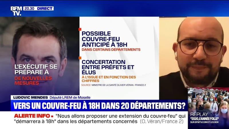 Couvre Feu Envisage 18h Dans Certains Departements Pour Ludovic Mendes Larem C Est Une Annonce Qui Parait Coherente Avec La Situation