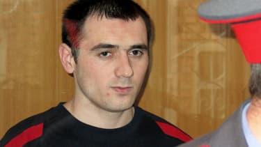 Nur-Pashi Kulayev lors de son procès le 19 mai 2006, à Vladikavkaz.