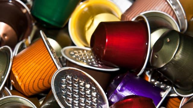 Dosettes de café en aluminium.