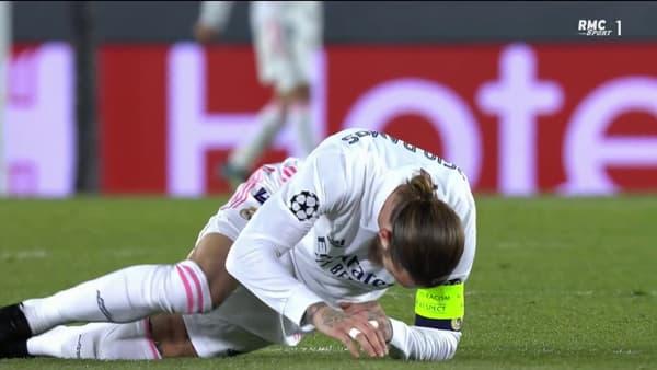 La réaction de Ramos après le raté de Vinicius