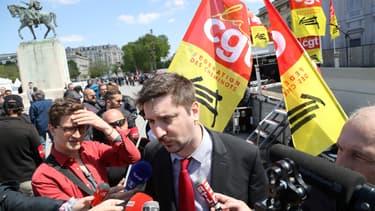 Laurent Brun, leader de la CGT Cheminots (photo d'illustration)