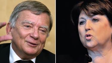 Jean Glavany et Martine Aubry