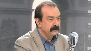 Philippe Martinez, le secrétaire général de la CGT, mercredi matin sur BFMTV et sur RMC.