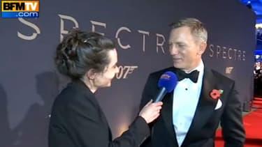 """Daniel Craig lors de l'avant-première mondiale de """"007 Spectre""""."""