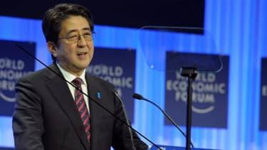 Shinzo Abe, le 22 janvier dernier, lors du forum économique mondial de Davos.