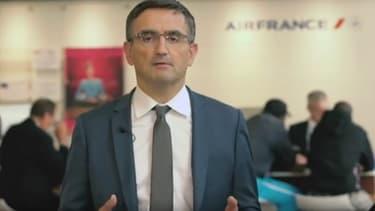 """Xabier Broseta, le DRH d'Air France, veut montrer le """"vrai visage"""" d'Air France."""