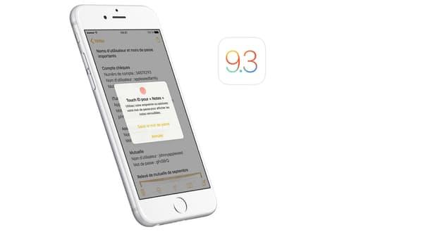 Apple iOS 9.3 Notes