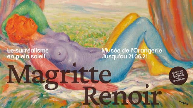 """L'EXPOSITION """"MAGRITTE / RENOIR"""" AU MUSEE DE L'ORANGERIE EN PARTENARIAT AVEC BFMTV"""