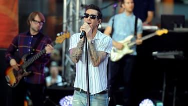 Le groupe Maroon 5 en concert à New York