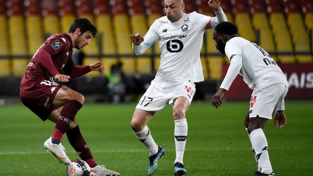 Le Lillois Yilmaz face à Metz
