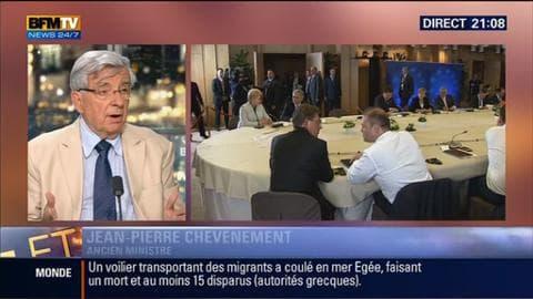 """Crise grecque (1/2): """"L'Europe ne peut pas se désintéresser de la Grèce"""", a déclaré Jean-Pierre Chevènement"""