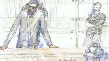Mourad Farès dans le box des accusés de la cour d'assises spéciale de Paris, le 20 janvier 2020.