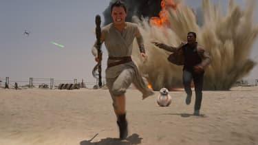 Rey, Finn et BB8, nouveaux personnages de Stars Wars