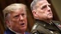 Le général Mark Milley en compagnie de Donald Trump