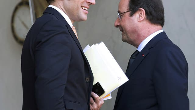 Emmanuel Macron et François Hollande à l'Elysée