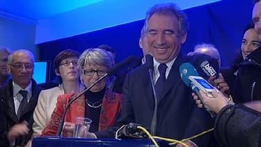 François Bayrou s'est exprimé très ému à Pau, ce dimanche soir.