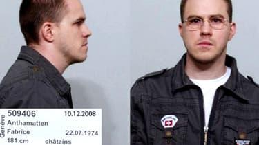 Le détenu évadé Fabrice Anthamatten. Image diffusée samedi par la police genevoise.