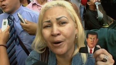 L'émotion est grande dans les rues de Caracas au Venezuela le 5 mars 2013.