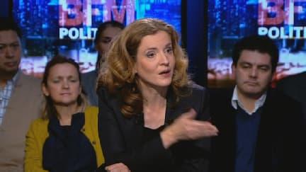 Nathalie Kosciusko-Morizet sur le plateau de BFM Politique face à Apolline de Maslherbes