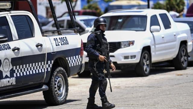 Un officier de police mexicain, le 28 août 2019