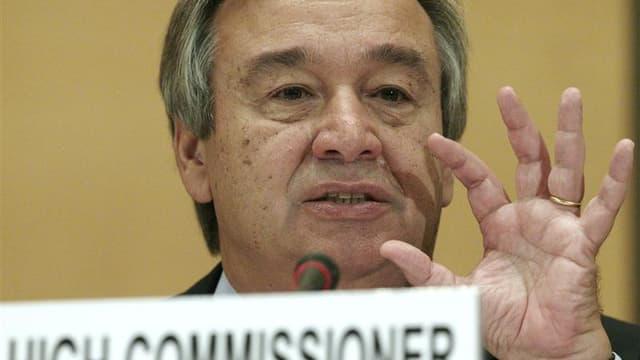 Antonio Guterres, Haut commissaire aux réfugiés. Le nombre de demandeurs d'asile dans les pays occidentaux a progressé de 20% l'an dernier, selon le Haut Commissariat des Nations unies pour les Réfugiés (HCR) qui attribue cette augmentation aux crises en